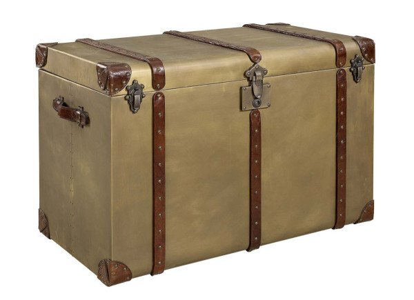 Artwood Cape Town Big Trunk, Old Brass