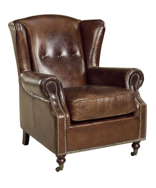 Artwood Goslar Wingchair, Vintage Leather Cigar