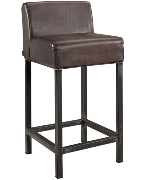 Artwood Stacey Barstool, Buffalo Leather Lampré