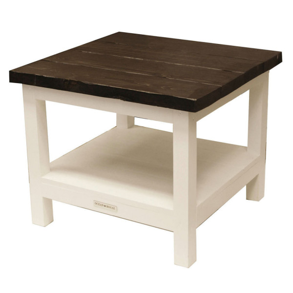 Ocean House Coffee Table Justin White With Lodge Top
